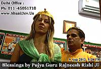 Elita with guru dev rajneesh rishi